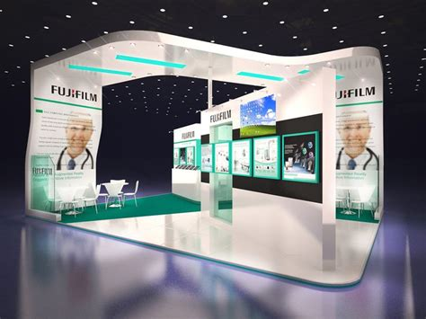 layout exhibition stand fuji film exhibition stand design on behance display
