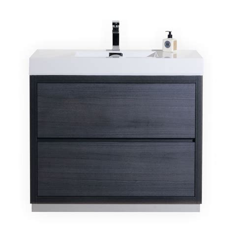 Free Standing Bathroom Sink Vanity by Bliss 40 Quot Gray Oak Free Standing Modern Bathroom Vanity