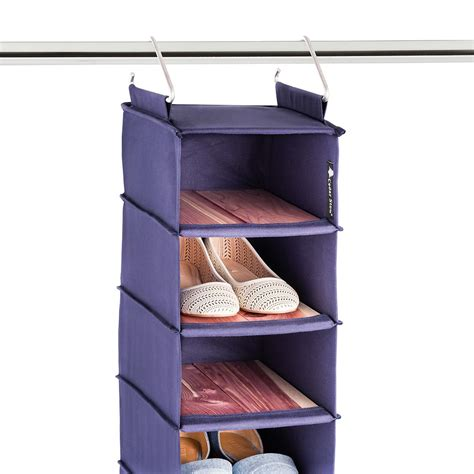 shoe storage bags hanging cedar stow hanging shoe bag the container store
