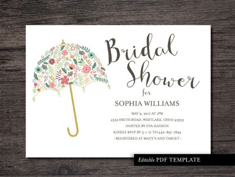 Wedding Shower Invitation Template 26 Bridal Shower Invitation Templates Word Psd Ai Eps Free Premium Templates