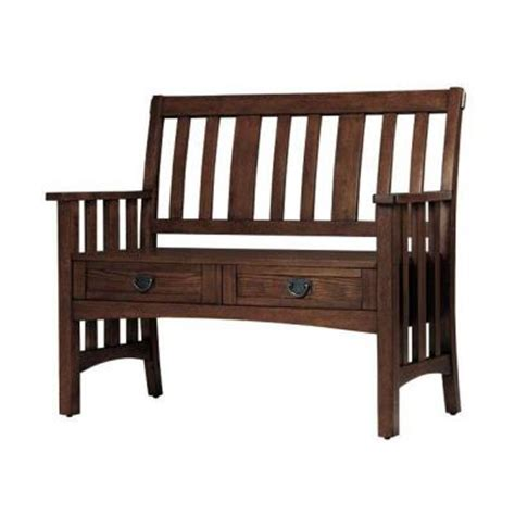 home depot wood bench home decorators collection artisan macintosh oak with 2