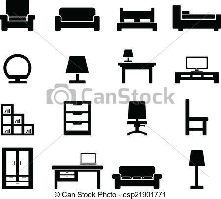 stock photo company 가구 아이콘 세트 치고는 너의 디자인 csp21901771의 벡터 일러스트 클립아트