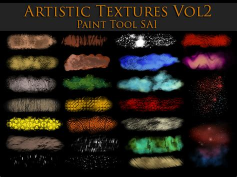 paint tool sai texture paint tool sai artistic textures vol2 by zummerfish on