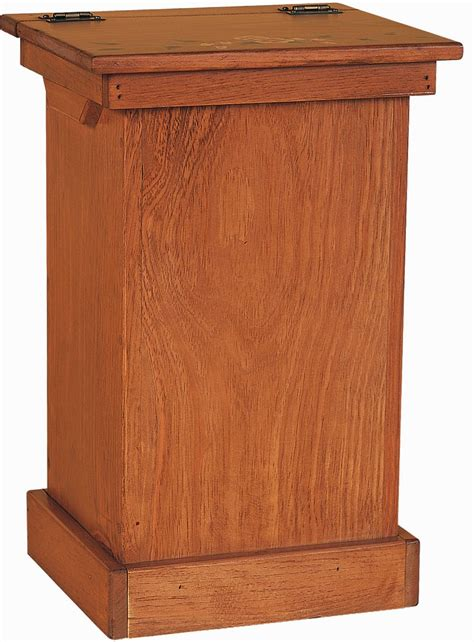 wooden trash can cabinet amish pine wood lift top trash bin cabinet