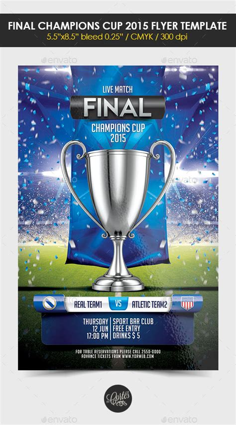 Uefa Chions League Promotion Flyer Psd 187 Dondrup Com Graphicriver Iii Flyer Template