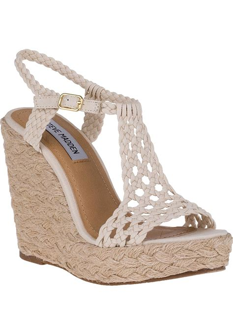Steve Madden Wedges For by Lyst Steve Madden Manngo Wedge Espadrille Fabric In