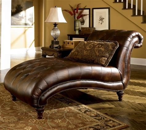 Oversized Tufted Chaise Lounge Large Brown Leather Armless Oversized Chaise Lounge Sofa With Tufted Seat And Backrest Pictures