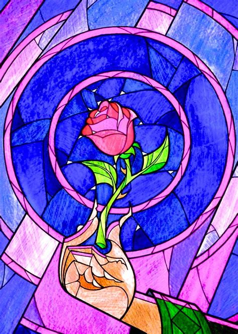 enchanted rose tattoo enchanted stained glass