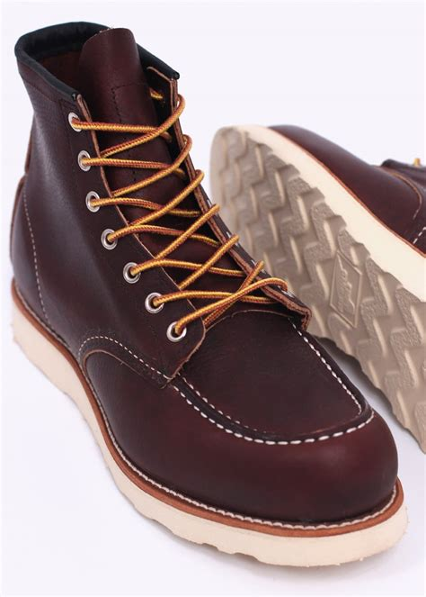 wing boots wing shoes 6 quot classic moc boots briar wing