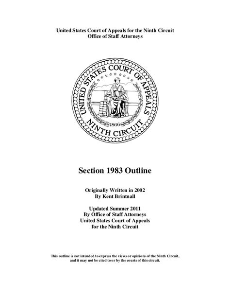 section 1008 civil code section 1983 outline 9th circuit 181 pages