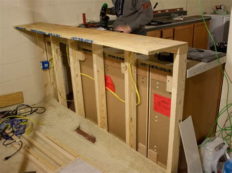 building a bar with kitchen cabinets more like home february 2012
