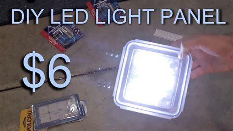 Diy Led Light Panel 6 Youtube Diy Led Light