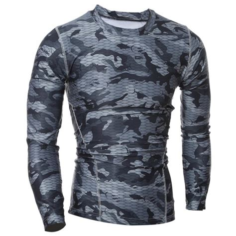 New S Camo Cycling Tops Compression Sleeve T Shirt Sport new camouflage sleeve t shirt breathable army tactical combat t shirt camo