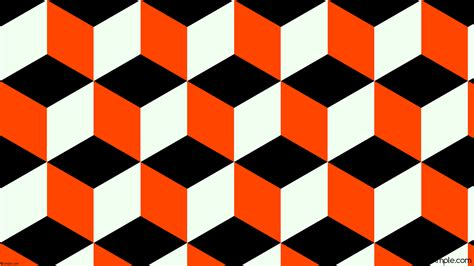 orange and white l wallpaper white 3d cubes orange black 000000 ff4500