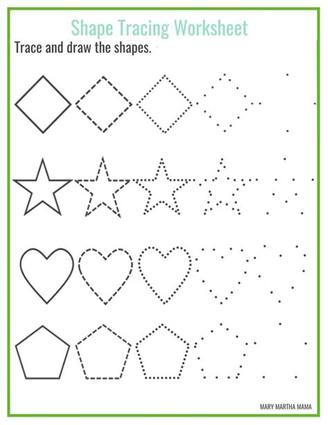 draw shapes free shapes worksheets for preschool free printables