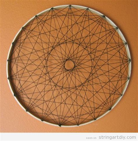 Circle String - string diy ideas tutorials free patterns and