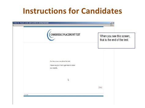 cambridge placement test cambridge placement test