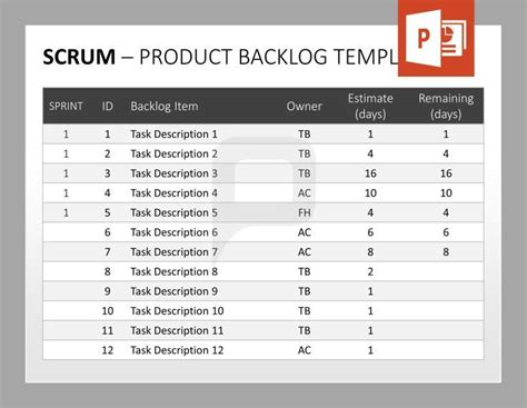 Scrum For Powerpoint We Provide You With A Full Range Of Product Backlog Templates For Your Product Backlog Template