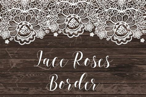 Lace Bordir vector lace border roses by designloverstudio