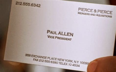 Paul Allen Business Card