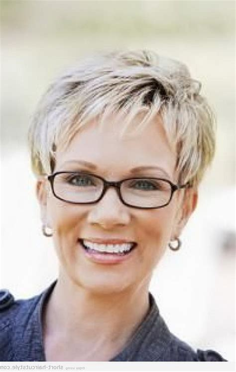 hairstyles for round faces over 50 with glasses short hairstyles for women over 40 with glasses
