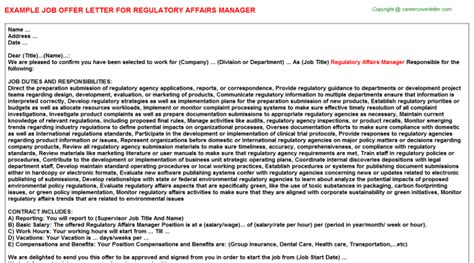 Regulatory Officer Cover Letter by Sle Cover Letter Regulatory Affairs Manager Courseworkexles X Fc2