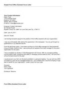 Sle Cover Letter For Office Manager by Front Office Cover Letter Sle Cover Letter Templates