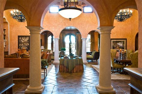 Chandeliers For Hallways Tuscan Villa Mediterranean Living Room Other By