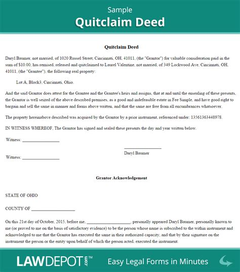 name on house deed but not on mortgage quitclaim deed free quitclaim deed form us lawdepot