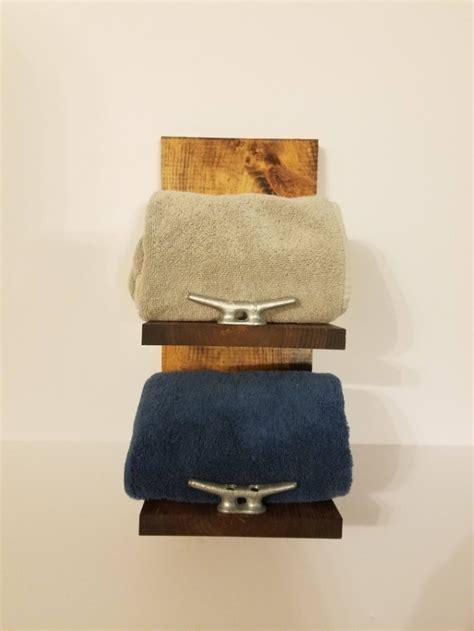 rustic nautical towel rack  shelf bathroom decor aftcra