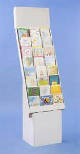corrugated greeting card holder 8 tier 24 pocket