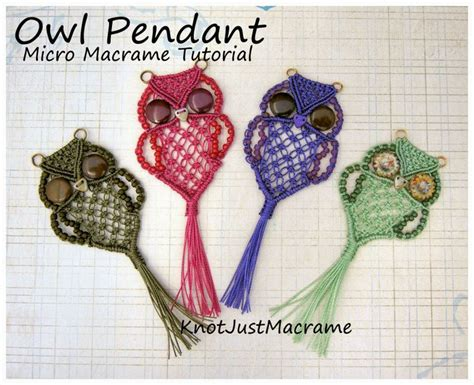 Macrame Lessons - micro macrame owl tutorial by sherri stokey of knot just