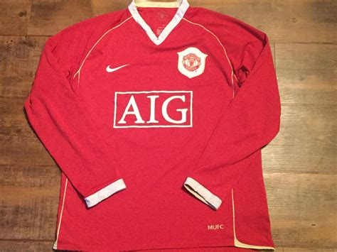 Jersey Retro Manchester United Home 2007 global classic football shirts 2006 manchester united vintage soccer jerseys