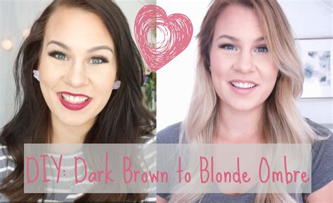how to go from dark brown hair to platinum blonde diy dark brown to blonde ombre balayage at home youtube