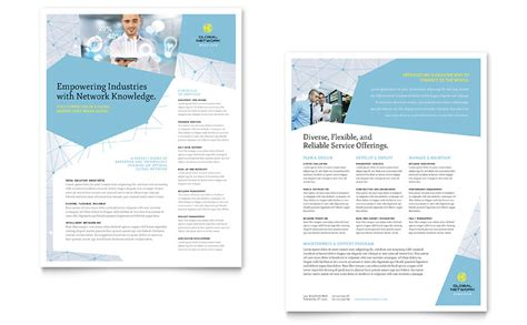 global network services datasheet template word publisher
