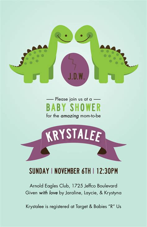 Dinosaur Baby Shower Invitations Theruntime Com Dinosaur Baby Shower Invitation Template