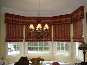 Jc Pennys Curtains 4 Bay Valance With Banded Roman Shades Terry S Designing
