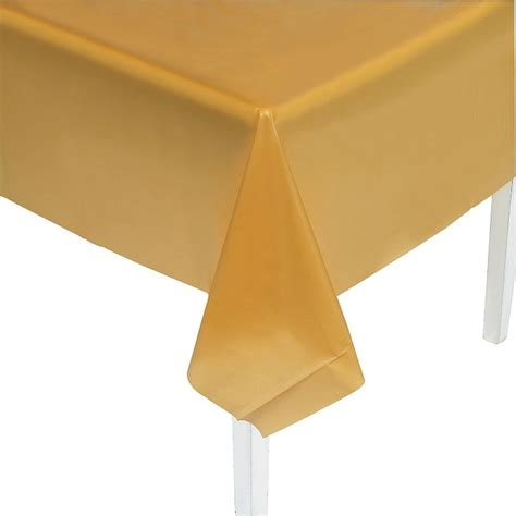gold plastic table covers gold plastic tablecloth metallic gold table covers and