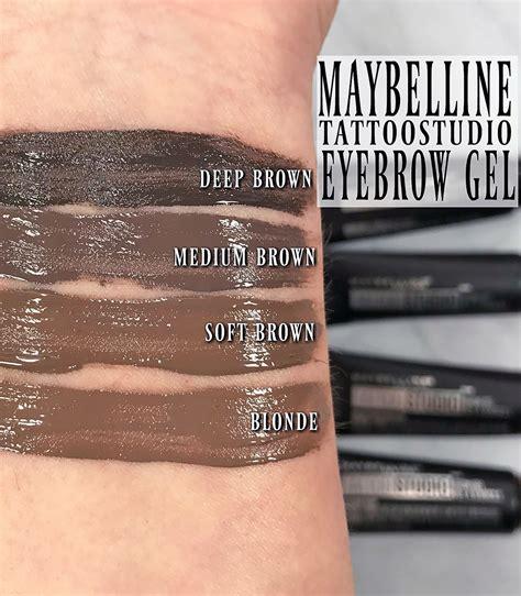 tattoo brow maybelline waterproof how to wear maybelline tattoostudio waterproof eyebrow gel