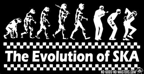 Kaos Evolution Of Work Tshirt T Shirt T Shirt t shirt the evolution of ska no gods no masters