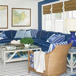 Nautical Living Room by Nautical Blue Living Room The New Classic Beach House