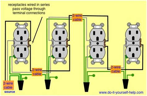 wiring diagram receptacles in series electrical