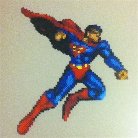 superman perler superman perler bead sprite by saladbrains projects to