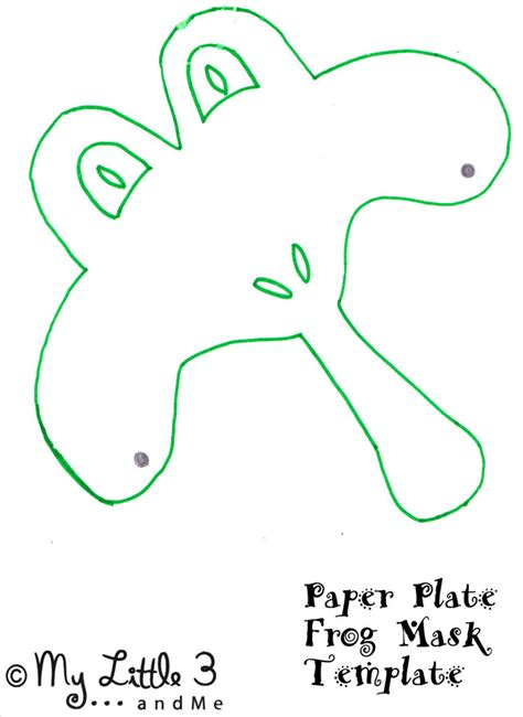 paper plate mask template frog mask animal mask