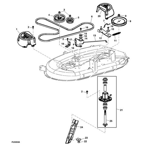 deere deck parts diagram deere la105 series 42 quot deck parts diagram for