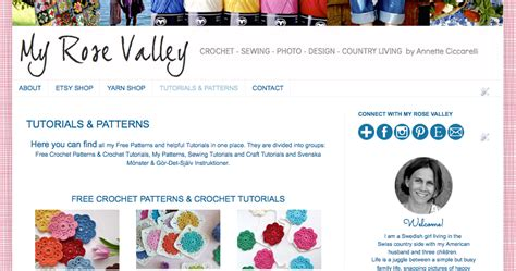 my pattern library my rose valley my new tutorials patterns library