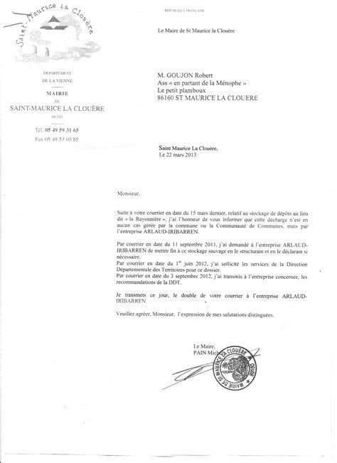 lettre de decharge type