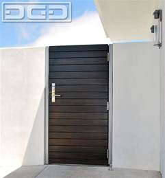 Front Door Gate Designs Custom Crafted Modern Side Gate In A Horizontal Slat Design With Chrome Hardware Modern