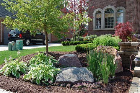 front yard landscaping ideas with stones frontyard landscape traditional landscape nashville