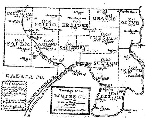 Meigs County Property Tax Records Meigs County Township Map Leavesonbranches Ervin